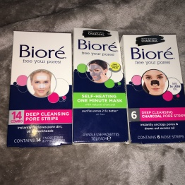 Biore skincare products